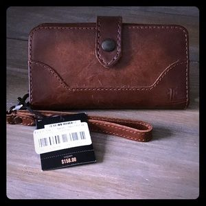 NWT Frye Leather Phone Wristlet